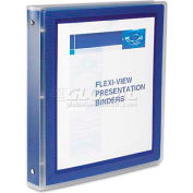 """Avery® Flexi-View Round-Ring Presentation View Binder, 1-1/2"""" Capacity, Navy Blue"""