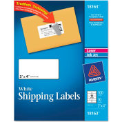 Avery® Shipping Labels for Laser and Ink Jet Printers, 2 x 4, White, 100/Pack