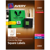 Avery® Print-To-The-Edge Easy Peel Labels with TrueBlock, 2 x 2, White, 300/Pack