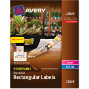Avery® Removable Durable Labels, TrueBlock Technology, 1-1/4 x 1-3/4, Glossy WE, 256/Pk