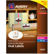 Avery® Oval Easy Peel Labels, 2 x 3-1/3, Matte Ivory, 80/Pack