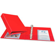"""Avery® Durable Binder with Slant Rings, Vinyl, 11 x 8 1/2, 1 1/2"""", Red"""