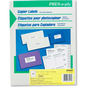 Avery® Pres-A-Ply Copier Labels, 1 x 2-3/4, White, 3300/Box