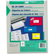 Avery® Pres-A-Ply Inkjet Address Labels, 2 x 4, White, 250/Pack