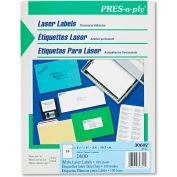 Avery® Pres-A-Ply Laser Address Labels, 1-1/3 x 4, White, 1400/Box