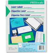 Avery® Pres-A-Ply Laser Address Labels, 8-1/2 x 11, White, 100/Box