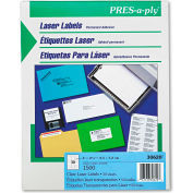 Avery® Pres-A-Ply Laser Address Labels, 1 x 2-5/6, Clear, 1500/Box