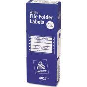 Avery® Dot Matrix File Folder Labels, 7/16 x 3-1/2 , White, 5000/Box