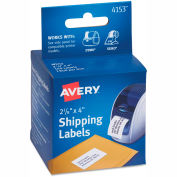 Avery® Thermal Printer Labels, Shipping, 2-1/8 x 4, White, 140/Roll, 1 Roll/Box