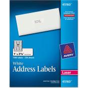 Avery® Address Labels, 1 x 2-5/8, White, 7500/Box