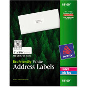 Avery® EcoFriendly Labels, 1 x 2-5/8, White, 750/Pack