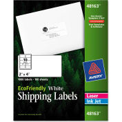 Avery® EcoFriendly Labels, 2 x 4, White, 1000/Pack