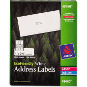 Avery® EcoFriendly Labels, 1 x 2-5/8, White, 3000/Pack
