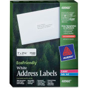 Avery® EcoFriendly Labels, 1 x 2-5/8, White, 7500/Pack