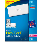 Easy Peel Laser Address Labels, 1 x 2-5/8, White, 3000 Labels