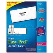 Easy Peel Laser Address Labels, 1-1/3 x 4, White, 1400 Labels