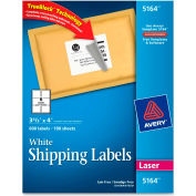 Shipping Labels with TrueBlock Technology, 3-1/3 x 4, White, 600 Labels