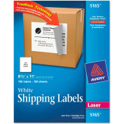 Avery® Shipping Labels with TrueBlock Technology, 8-1/2 x 11, White, 100/Box