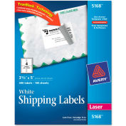 Avery® Shipping Labels with TrueBlock Technology, 3-1/2 x 5, White, 400/Box