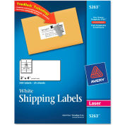 Avery® Shipping Labels with TrueBlock Technology, 2 x 4, White, Laser, 250/Pack