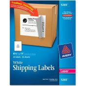 Avery® Shipping Labels with TrueBlock Technology, 8-1/2 x 11, White, Laser, 25/Pack