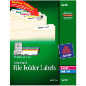 Avery® Permanent Adhesive Laser/Inkjet File Folder Labels, Assorted, 750/Pack