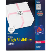 """Avery® High-Visibility Round Laser Labels, 1-2/3"""" Dia, White, 600/Pack"""