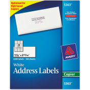 Avery® Self-Adhesive Address Labels for Copiers, 1-3/8 x 2-13/16, White, 2400/Box