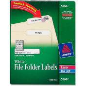 Avery® Permanent Self-Adhesive Laser/Inkjet File Folder Labels, White, 1500/Box