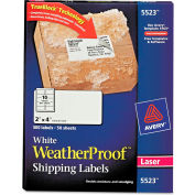 Avery® White Weatherproof Laser Shipping Labels, 2 x 4, 500/Pack