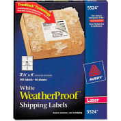 Avery® White Weatherproof Laser Shipping Labels, 3-1/3 x 4, 300/Pack