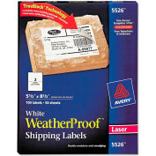 Avery® White Weatherproof Laser Shipping Labels, 5-1/2 x 8-1/2, 100/Pack