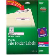 Avery® Self-Adhesive Laser/Inkjet File Folder Labels, Purple Border, 750/Pack