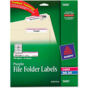 Avery® Self-Adhesive Laser/Inkjet File Folder Labels, Purple Border, 750/Pack