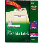 Avery® Self-Adhesive Laser/Inkjet File Folder Labels, Blue Border, 1500/Box
