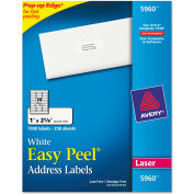 Avery® Easy Peel Laser Address Labels, 1 x 2-5/8, White, 7500/Box