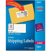 Avery® Shipping Labels with TrueBlock Technology, 2 x 4, White, 2500/Box