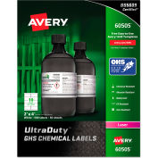"Avery® GHS Chemical Waterproof & UV Resistent Labels, Laser, 2"" x 4"", 500/Box"