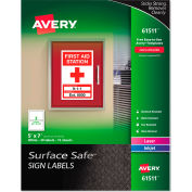 """Avery® Surface Safe Sign Labels, 5"""" x 7"""", White, 30/Pack"""