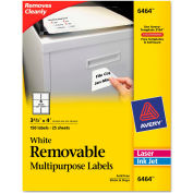 Avery® Removable Inkjet/Laser ID Labels, 3-1/3 x 4, White, 150/Pack