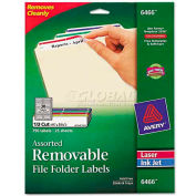 Avery® Removable Filing Labels for Inkjet/Laser, 2/3 x 3-7/16, Assorted, 750/Pack