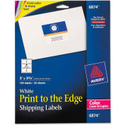 Avery® Shipping Labels for Color Laser & Copier, 3 x 3-3/4, Matte White, 150/Pack