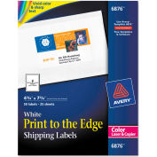 Avery® Shipping Labels for Color Laser & Copier, 4-3/4 x 7-3/4, Matte White, 50/Pack