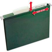Avery® Slide & Lift Tab Hanging Folders, Letter, 1/3 Cut, Green, 24/Pack