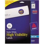 "Avery® Inkjet Labels for Color Printing, 1-1/2"" Dia, Matte White, 400/Pack"