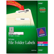 Avery® Permanent Self-Adhesive Laser/Inkjet File Folder Labels, White, 750/Pack