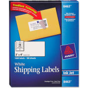 Avery® Shipping Labels with TrueBlock Technology, 2 x 4, White, 1000/Box