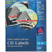 Avery 8944 Inkjet Full-Face CD Labels, Glossy White, 20/Pack