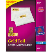 Avery® Foil Mailing Labels, 3/4 x 2-1/4, Gold, 300/Pack