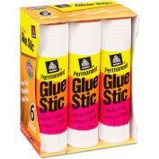 Avery® Permanent Glue Stics, White Application, 1.27 oz, 6/Pack